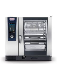 RATIONAL COMBISTEAMER ICOMBI PRO, 10x 2/1 GN, 1.200 programma's, 150 tot 300 maaltijden per dag, +30° tot +300° C, boiler, touch-screen, kern-temperatuurmeter, volautomatisch schoonmaak-programma