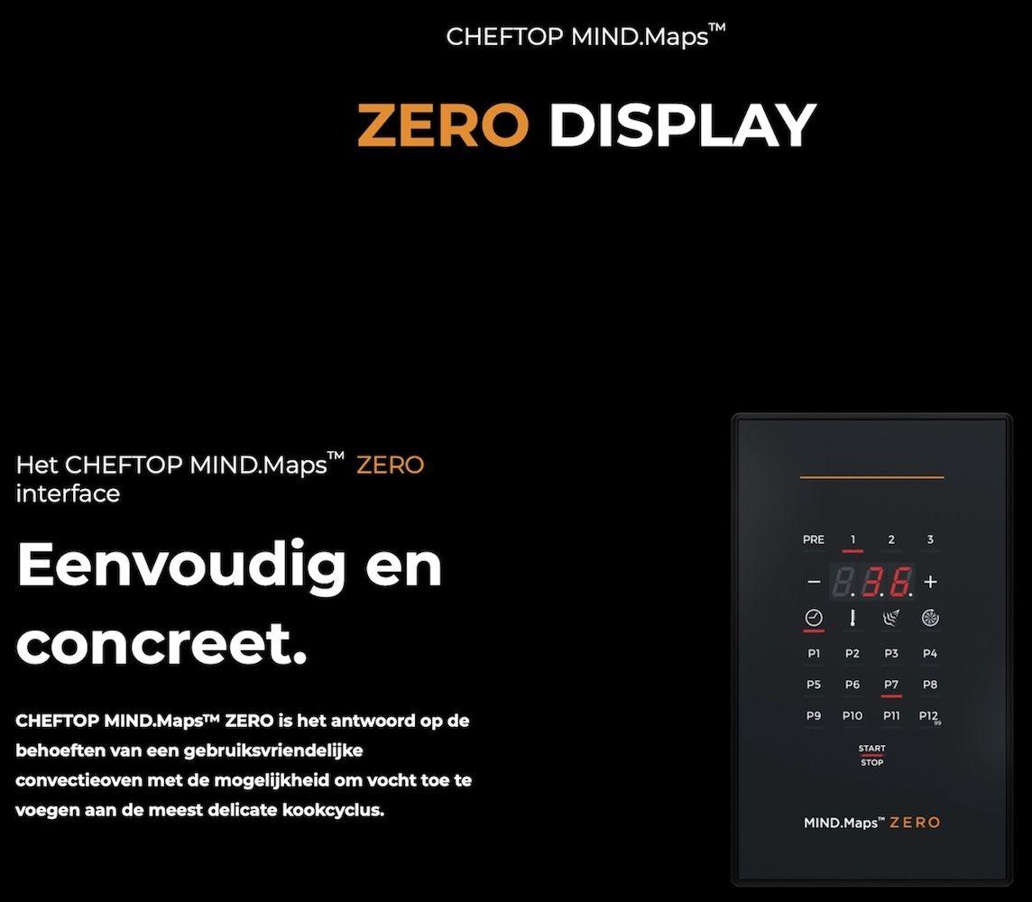 Unox ChefTop Zero Bedieningspaneel