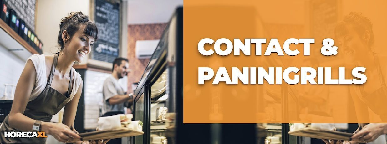Contactgrill of Panini Grill Kopen of Leasen? HorecaXL is dé groothandel van Nederland en België voor al uw keukenapparatuur