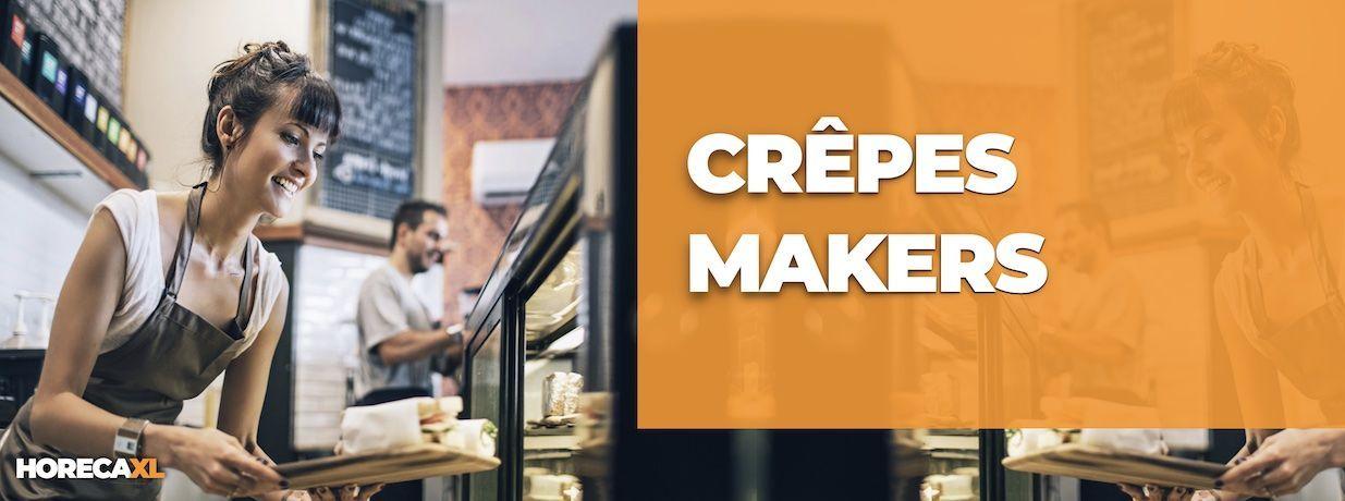 Crepesmakers Koop je Veilig en Snel op HorecaXL. HorecaXL maakt kwaliteit betaalbaar!