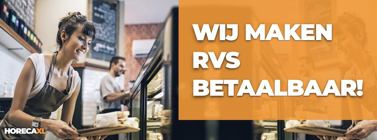 RVS Koop je Online bij HorecaXL. In Nederland én in België