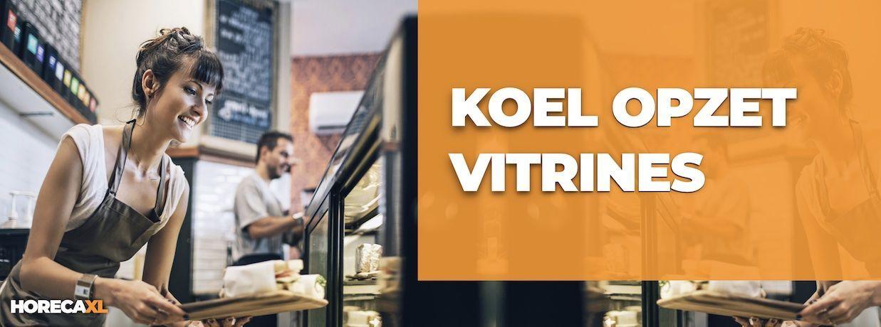 Koelopzetvitrines Koop je Veilig en Snel op HorecaXL. Ook Leasing in Nederland én in België