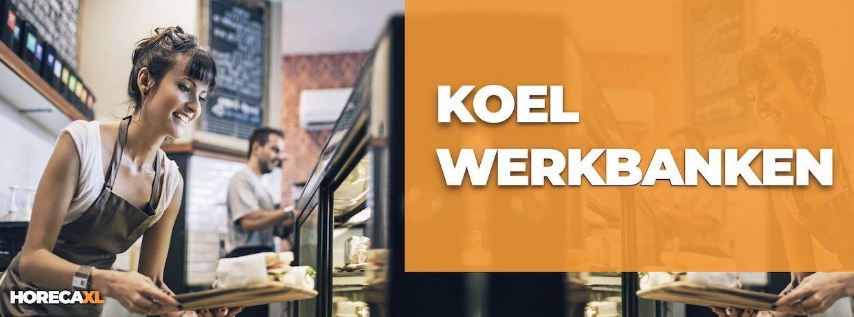Koelwerkbank Kopen of Leasen? HorecaXL is dé groothandel van Nederland en België voor al uw koelapparatuur
