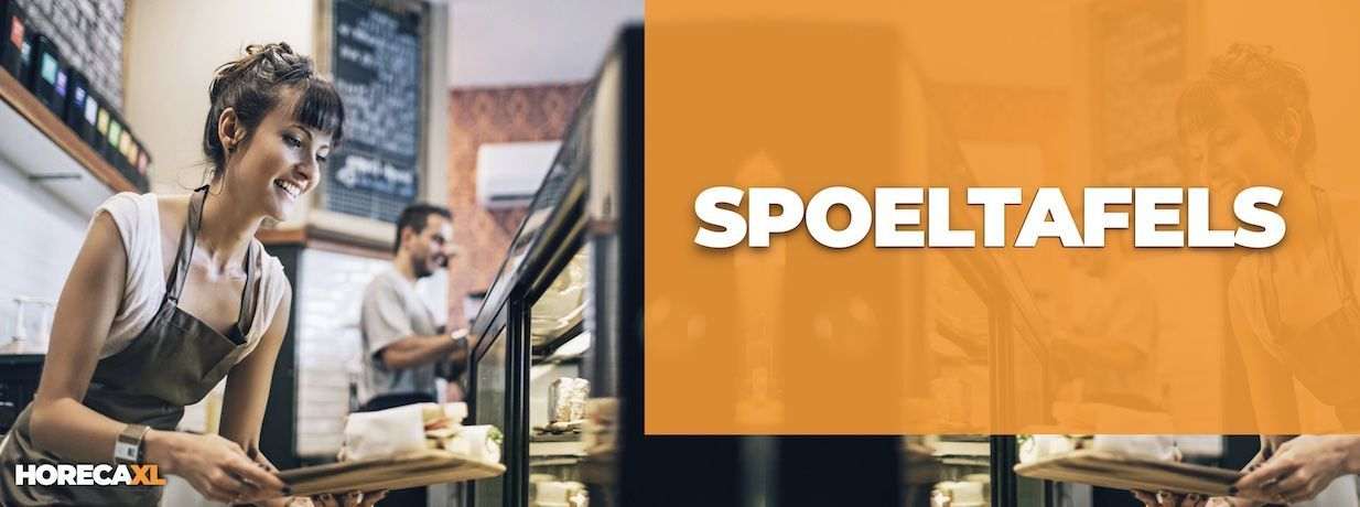 Spoeltafels Kopen? HorecaXL is dé groothandel van Nederland en België voor al uw RVS-artikelen
