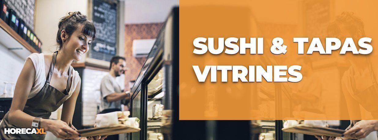 Sushi- en Tapas Vitrines Koop je Veilig en Snel op HorecaXL. Ook Leasing in Nederland én in België