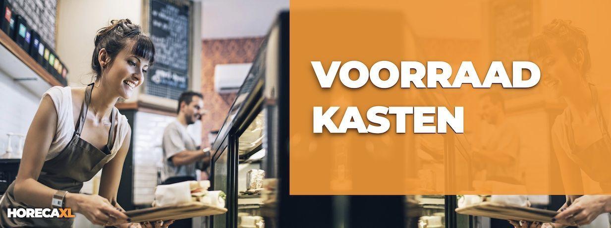 Voorraadkast Kopen? HorecaXL is dé groothandel van Nederland en België voor al uw RVS-artikelen