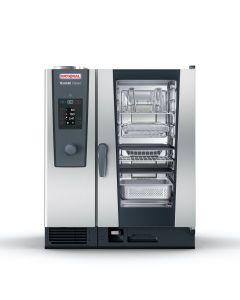 RATIONAL COMBISTEAMER ICOMBI CLASSIC, 10x 1/1 GN, gas,100 programma's, 80 tot 150 maaltijden per dag, +30° tot +300° C, instelwiel met pushfunctie, kern-temperatuurmeter, volautomatisch schoonmaak-programma